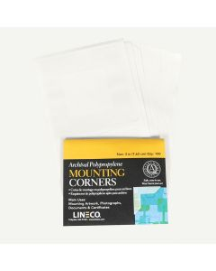 Lineco Polypropylene 3In Mounting Corners 100 Pkg