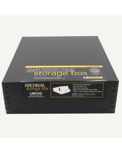 Lineco Museum Storage Box Black 8.5x10.5x3 In