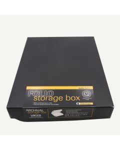 Exterior Color: Black 13 1//2 x 19 1//2 x 3 Lineco Archival 13x19 Print Storage Box Drop Front Design