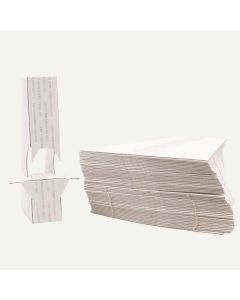 Double Wing 5 Inch White Self-Stick Easel Back, Pack of 25.