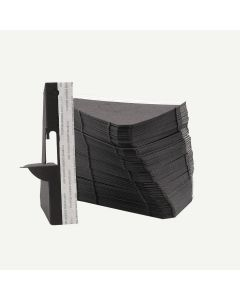 Single Wing 5 Inch Black Self-Stick Easel Back, Pack of 50.