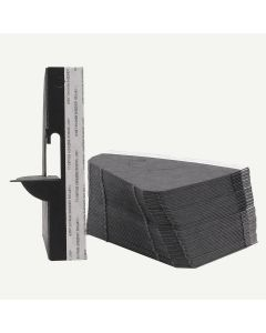 Single Wing 5 Inch Black Self-Stick Easel Back, Pack of 25.