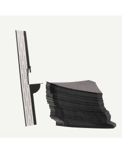 Single Wing 9 Inch Black Self-Stick Easel Back, Pack of 50.