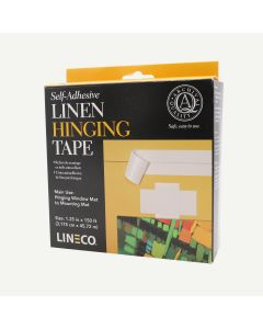 Lineco Acid Free Linen Self-Adhesive Hinge Tape Roll, 1.25 inch x 150 Feet