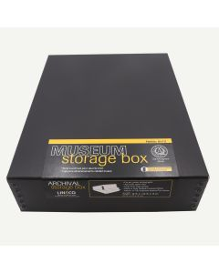 Lineco Museum Storage Box Black 9.5x12x3 Inches