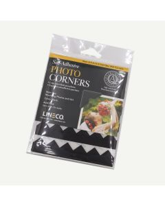Lineco Self-Adhesive Acid-Free Photo Corners, 0.5 inches, Black, Package of 252.