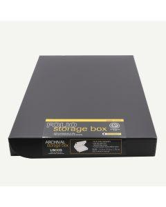 Lineco Clamshell Archival Folio Storage Box 11x17 Inch Size, Black Color
