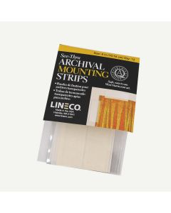 Lineco See-Thru Polyester Mounting Strips, 4 inches, Pack of 12