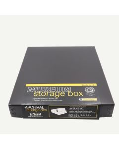 "Lineco Black Archival 8x10"" Print Storage Box, 8 1/2"" x 10 1/2"" x 1 1/2"""