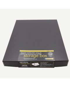 Lineco Drop-Front Storage Boxes Black 11 in. x 14 in. x 1 1/2 in