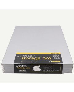 "Lineco 9""x12"" Clamshell Box, Silver"