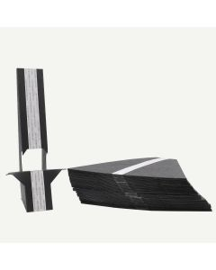Double Wing 9 Inch Black Self-Stick Easel Back, Pack of 25.
