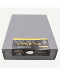 Lineco 9x12 Blue/Gray Museum Storage Box