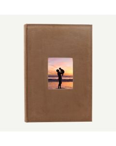 Suede Brown Photo Album for 300 of 4x6 Pictures
