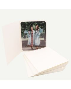 Pack of 25, Ivory Photo Folder for 8x10 or 6x8 Picture