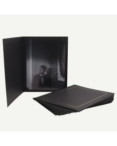 Pack of 25, Black Photo Folder for 8.5x11 Picture