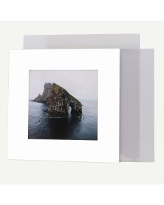 Pack of 50, 12x12 Pre-cut Mat with Whitecore fits 8x8 Picture + Backing + Bags.
