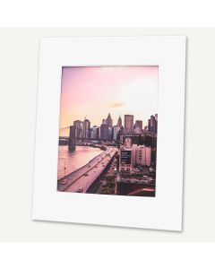 Pack of 25, 16x20 Pre-cut Mat with Whitecore fits 11x14 Picture