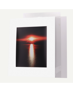 Pack of 10, 16x20 Pre-cut Mat with Whitecore fits 11x14 Picture + Backing + Bags.