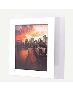 16x20 Pre-cut Mat with Whitecore fits 12x16 Picture + White Foam Board + Bag