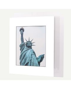 Pack of 50, 16x20 Pre-cut Mat with Blackcore fits 11x14 Picture + White Foam Board + Bags.