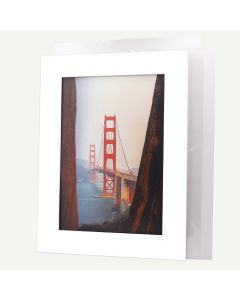 Pack of 10, 18x24 Pre-cut Mat with Whitecore fits 13x19 Picture + White Foam Board + Bags.