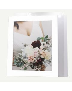 Pack of 10, 20x24 Pre-cut Mat with Whitecore fits 16x20 Picture + Backing + Bags.