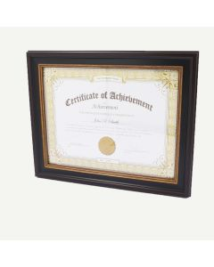 "8.5x11 Black Burgundy Polystyrene 1 1/4"" Diploma Frame for 8.5x11 Picture"