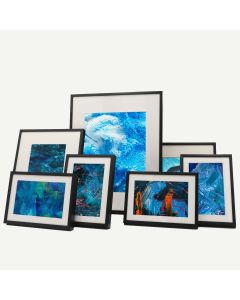 "Gallery Wall Set of 7 Black Aluminum 1/4"" Frames"