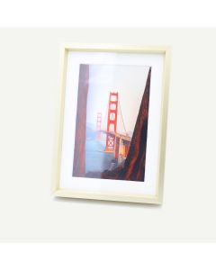 "5x7 Gold Aluminum 1/4"" Frame for 4x6 Picture and White Mat"